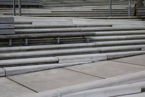 Stairs, Stair Step, Gradually, Architecture, Hamburg
