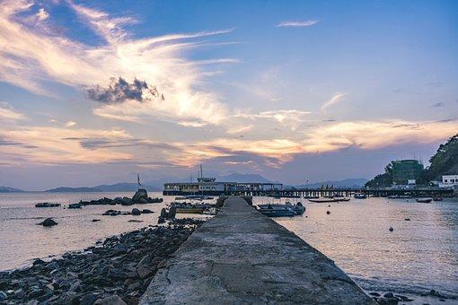 Beach, Sky, Sand Beach, Blue Day, Baiyun, Sea, Hai Bian