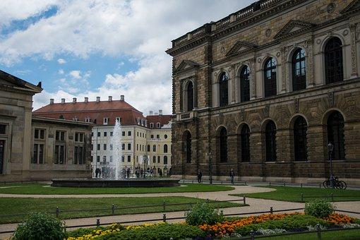 Dresden, Fountain, Historically, Zwinger Dresden