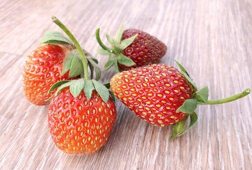 Strawberry, Garden, Berry, Juicy, Red, Still Life