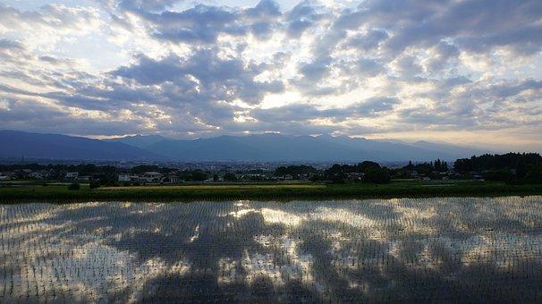 Landscape, At Dusk, Sunset, Cloud, Sparkling