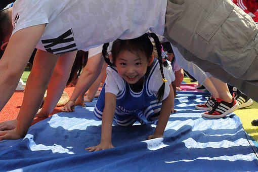 Kids, Games, Paternity, Sunshine, Laugh, Smile, Sports