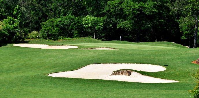 Sand Trap, Golf, Greens, Lawn, Sport, Golfing, Leisure
