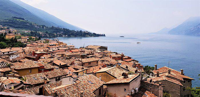 Malcesine, House Houses, Italy, Home, Garda, Water
