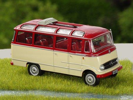 Model Car, Minibus, Coach, Mb O 319, 1 43 Scale