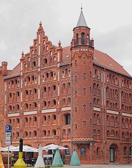 Stralsund, Port, Memory House, Restored, Gable, Tower