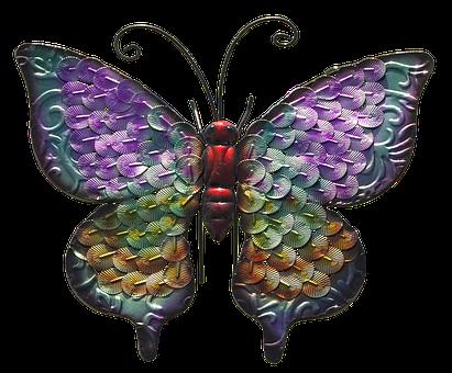 Butterfly, Metal Figure, Decoration, Gartendeko