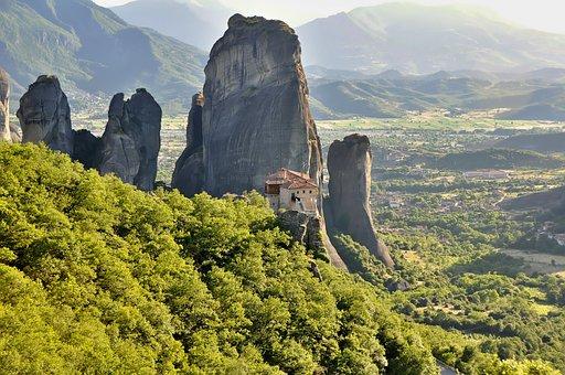 Nature, Landscape, Monasteries, Meteora Monasteries