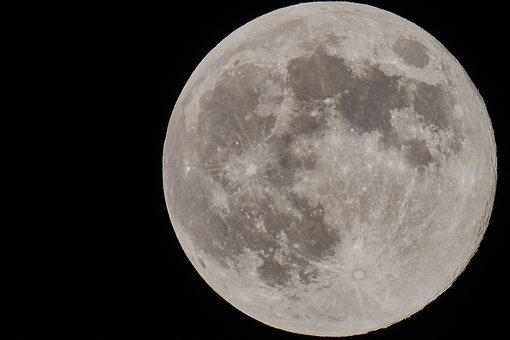 Moon, Voelmond, Moonlight, Mood, Sky, Night Sky