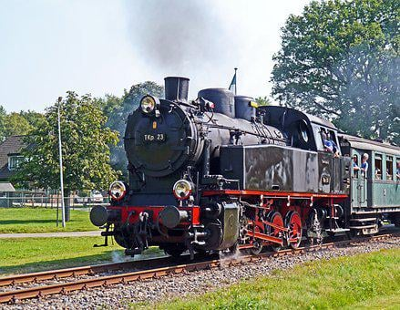 Steam Locomotive, Steam Train, Nostalgietag