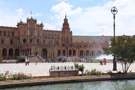 Palace, Romans, Plaza De España, Sevilla, Monument, Old