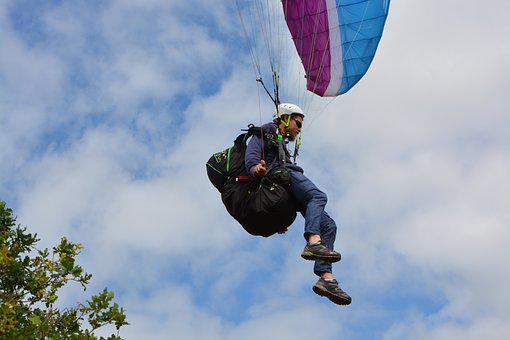 Paragliding, Paraglider, Landing Paragliding