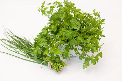 Culinary Herbs, Chives, Parsley, Herbs, Plant, Food