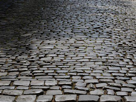 Cobblestones, Road, Paving Stones, Patch, Texture
