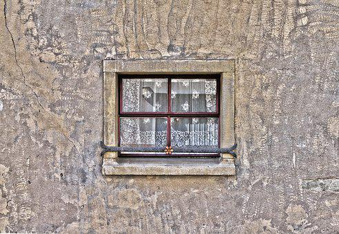 Window, Facade, Old, Wall, Plaster, Sand Stone
