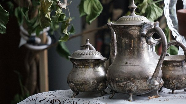 Tea Set, Tea, Teas, Silver, Fancy, Regal, Vintage, Old