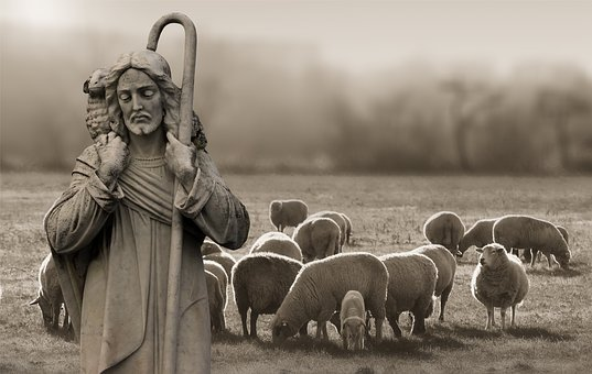 Religion, Faith, Shepherd, Schäfer, Sheep, Christ