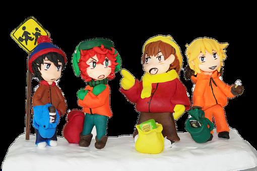 Cartman, Kyle, Stan, Kenny, Bus Stop, South Park Fan