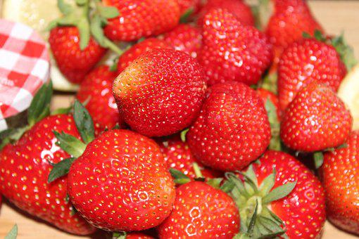 Strawberries, Jam, Spread, Homemade, Jam Jars, Fruit