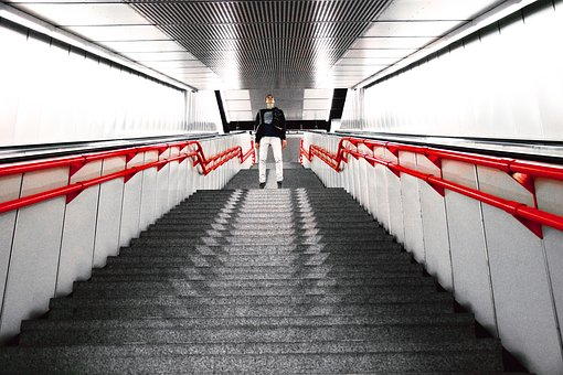Stairs, Metro, Passengers, Subway, Train, Modern, City