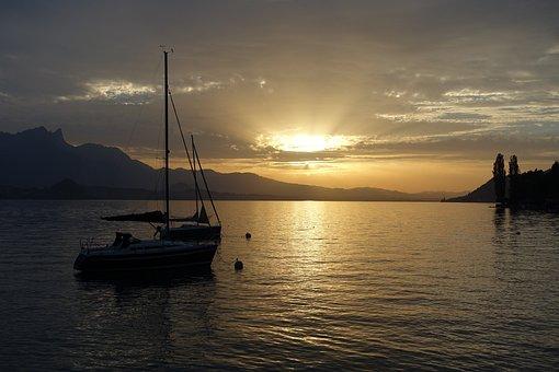 Sunset, Light, Evening, Water, Nature, Orange, Horizon