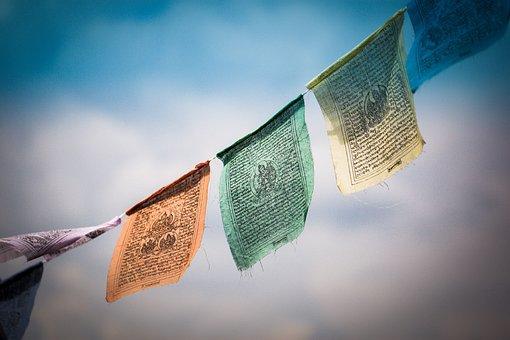 Tibet, Prayer Flags, Tibetan Prayer Flags, Buddhism