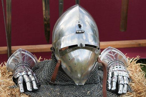 Armor, Ritterruestung, Sheet, Metal, Helm, Visor