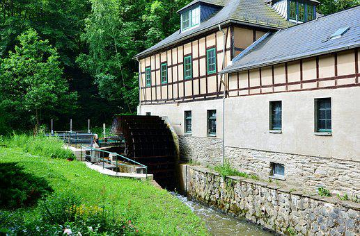 Mill, Landscape, Historically, Water, Old Mill