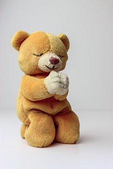 Teddy Bear, Beanie Baby, Pray, Praying, Teddy, Sweet