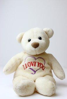 Teddy Bear, Beanie Baby, Bear, I Love You, Teddy