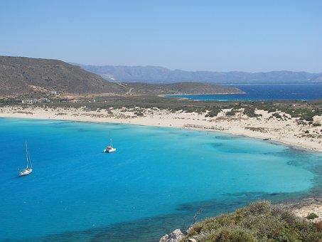 Yacht, Catamaran, Greece, Island, Paradise, Rest, Blue