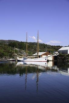 Loyal, Sailing Ship, Sea, Sky, Norway, Sail Boat, Boats
