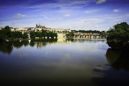 Prague, Moldova, Czech Republic, Bridge, City
