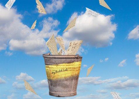 Bucket List, Bucket, Dream, Checklist