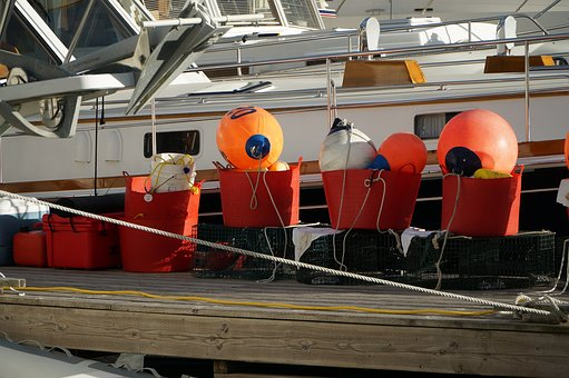 Buoy, Fishing, Industry, Colorful, Orange, Harbor