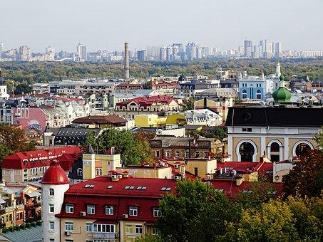 Kiev, Ukraine, Architecture, At Home, City, Panorama