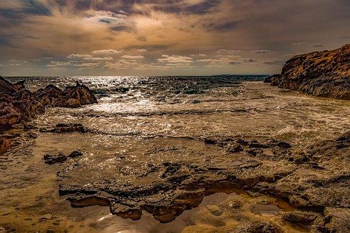 Sunset, Cliff, Coast, Rocky, Landscape, Nature, Travel
