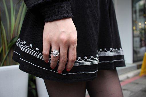 Girls, Beautiful, Decoration Products, Ring, Fashion