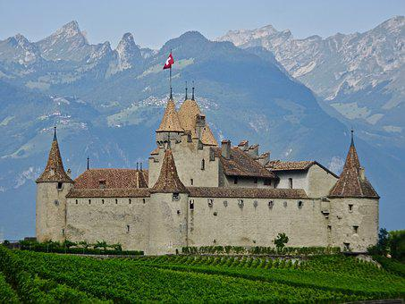 Castle, Stronghold, Swiss, Turrets, Fort, Chateau