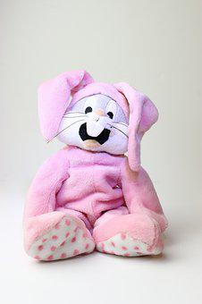 Plush, Plush Toy, Bunny, Playful, Childhood, Fun, Soft