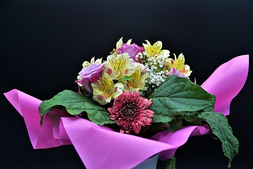 A Bunch Of Flowers, Close, Colorful, Flowers, Gift