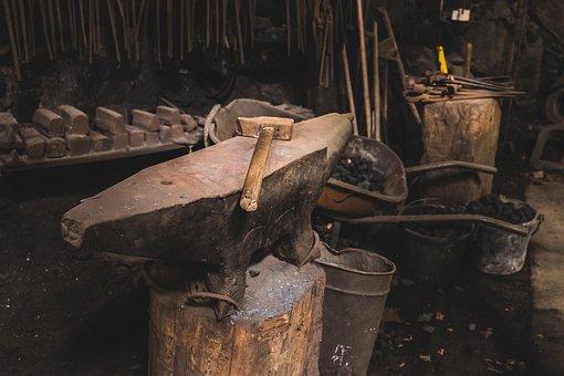 Hammer, Anvil, Tools, Metal, Steel, Tool, Iron, Craft
