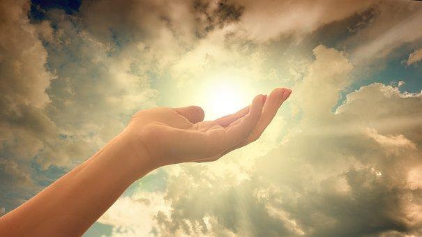 Religion, Faith, Cross, Light, Hand, Trust, God, Pray