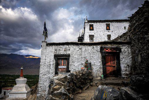 Monastery, Ladakh, India, Asia, Home, Architecture, Old