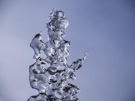 Ice, Shard, Melting, Sky, Winter, Freeze, Crystal, Icy