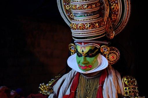 Kathakali, Dance, India, Kerala, Portraits