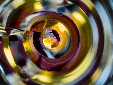Macro, Spiral, Mirror, Slide, Abstract