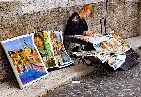 Painter, Paintress, Woman, Artist, Paint, Painting