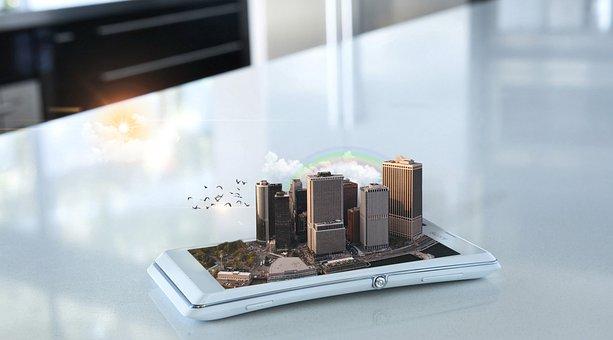 House, Phone, Transparent Background, Cellphone