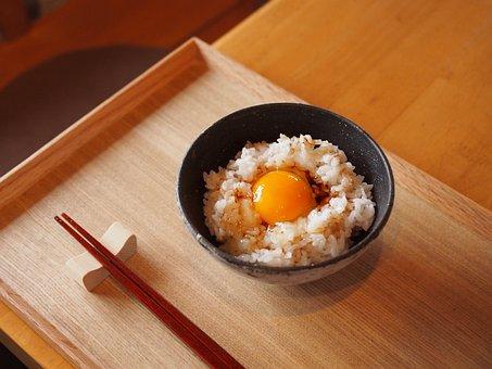 Rice, Egg, Japan, Food, Diet, Kumamoto